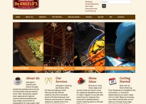 DeAngelos Catering - Web Design