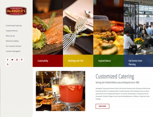 DeAngelos Catering – New Web Design