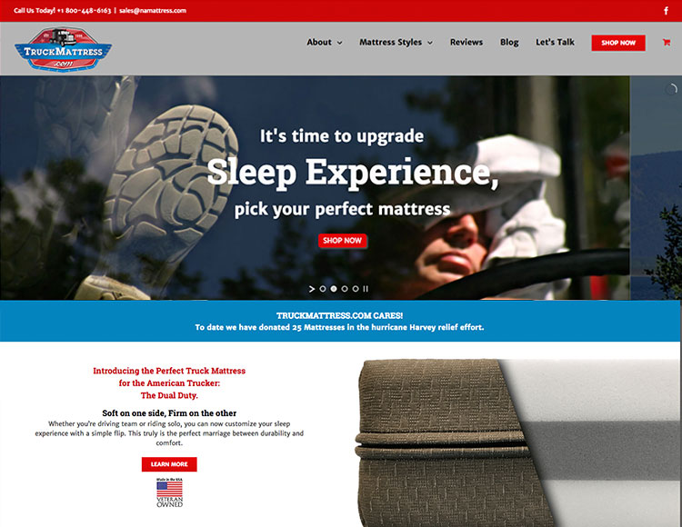 TruckMattress.com home