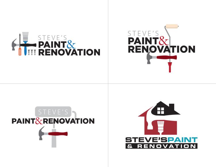 Steve's Paint and Renovation Logo Development