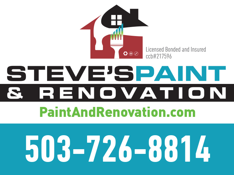 Steve's Paint and Renovation Yard Sign