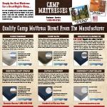 old camp mattress
